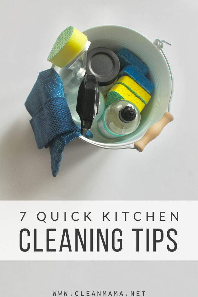 7 Quick Kitchen Cleaning Tips