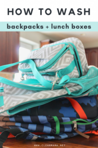 How to Wash Backpacks + Lunch Boxes