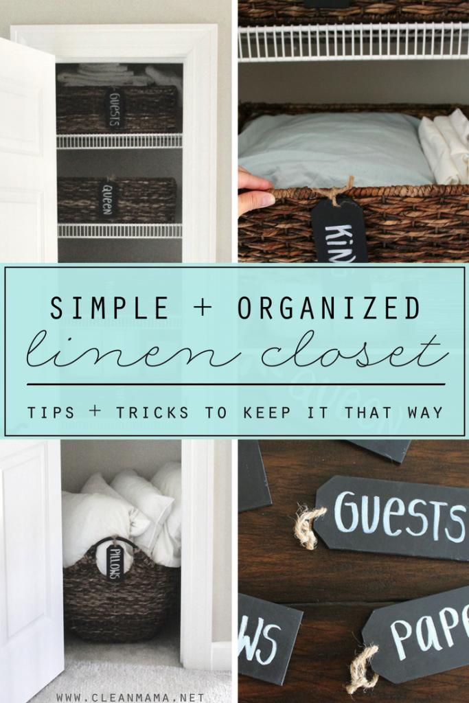 A Simple + Organized Linen Closet