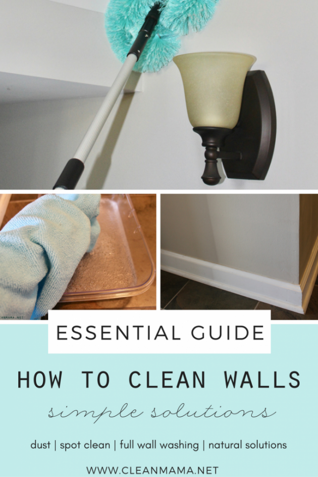 How To Clean Walls Clean Mama