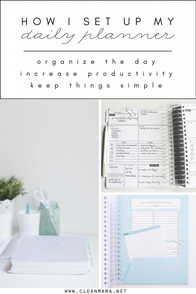 How I set up My DAILY Planner