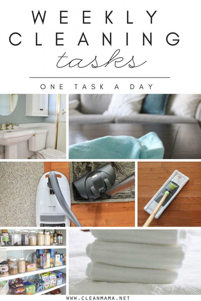 Weekly Cleaning Tasks + a Video