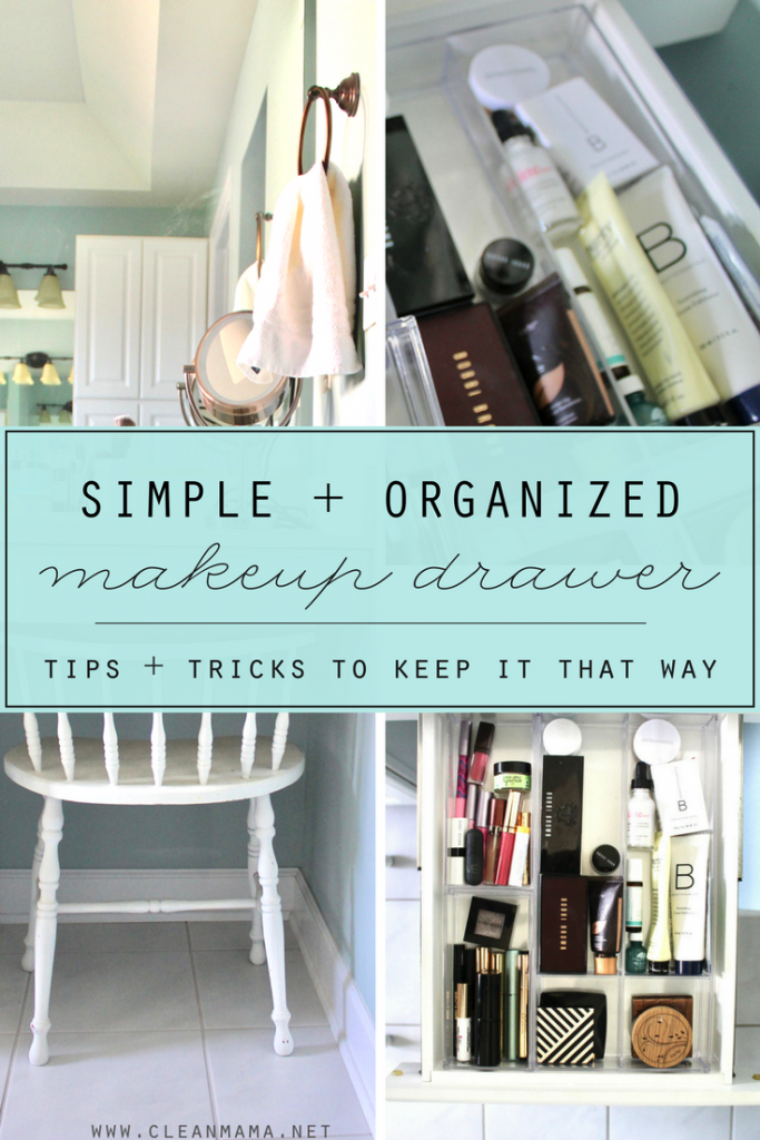 A Simple + Organized Makeup Drawer