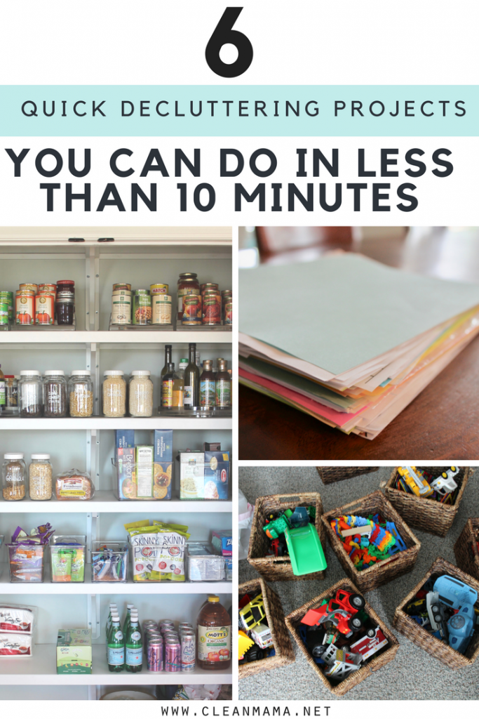 Six Quick Decluttering Projects You Can Do in Less Than 10 Minutes