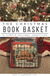 The Christmas Book Basket
