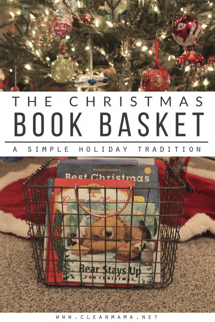 The Christmas Book Basket