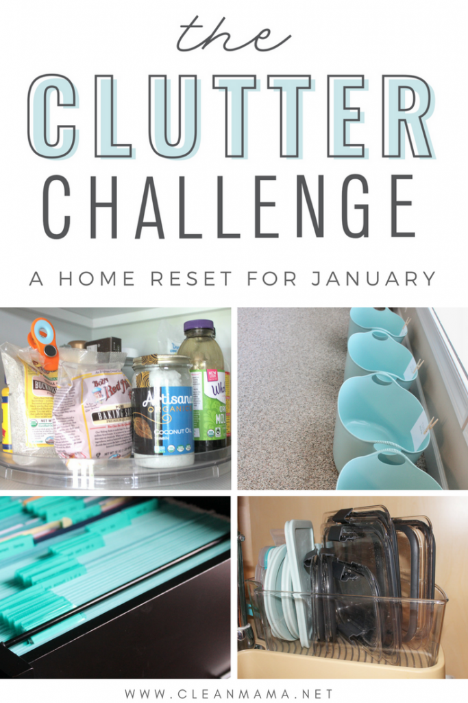 Are you 'IN' for the Clutter Challenge?  Do you need a home reset for January?