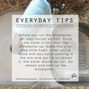 Everyday Tips : a Dishwasher Trick