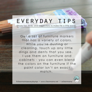 Everyday Tips : Furniture Markers