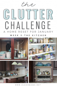 The Clutter Challenge – a Home Reset for January (week 2)