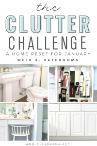 The Clutter Challenge – a Home Reset for January (week 3)