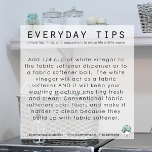 Everyday Tips : Use White Vinegar as a Fabric Softener