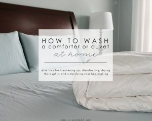 How to Wash a Comforter or Duvet (at home)