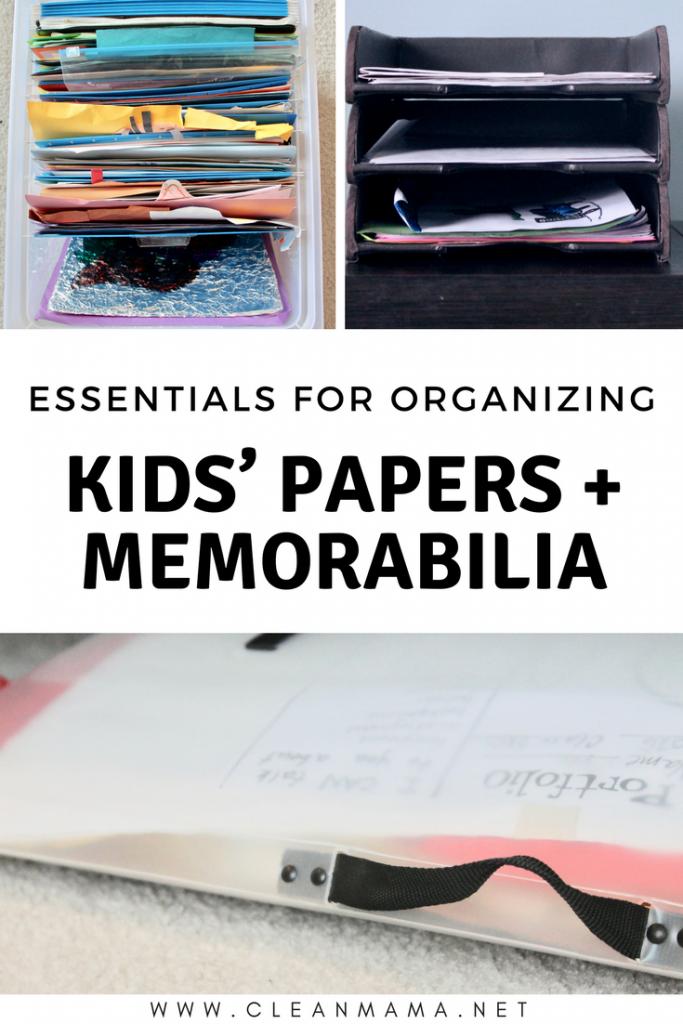 Essentials for Organizing Kids' Papers + Memorabilia