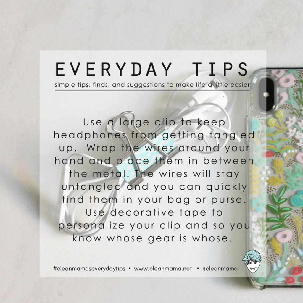 Everyday Tips : Keep those Headphones Untangled