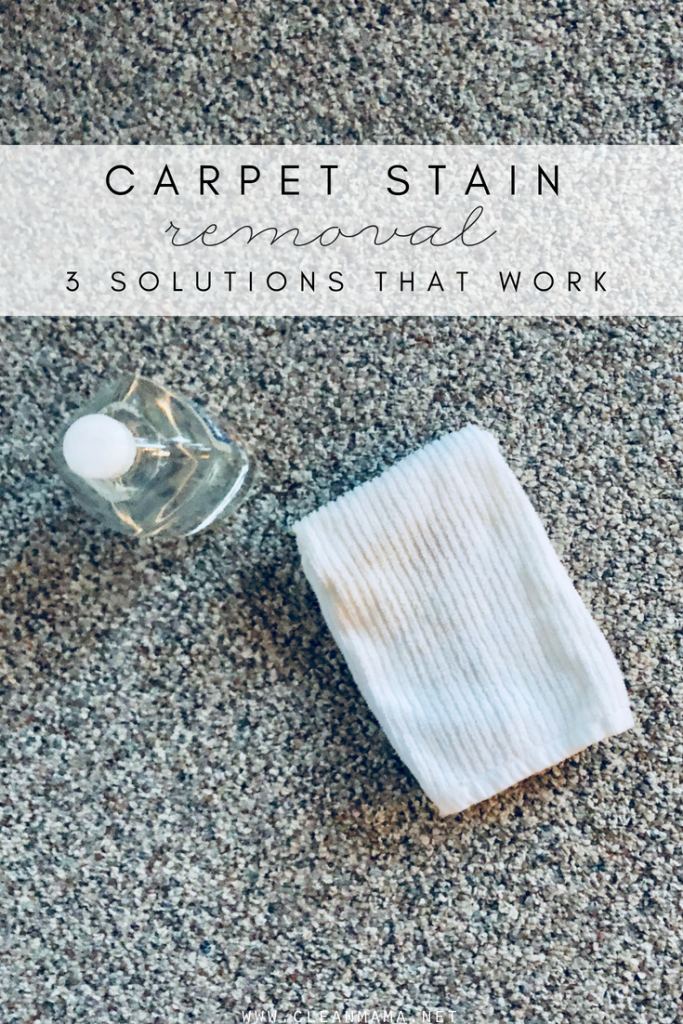 Carpet Stain Removal – 3 Solutions that Work