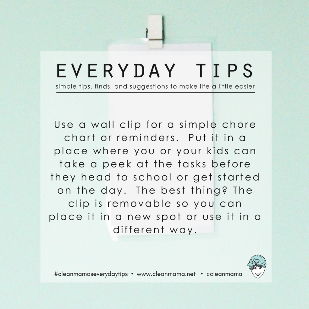 Everyday Tips : Use a Clip for Checklists and Reminders