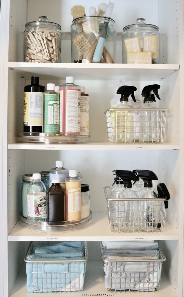 Organized Cleaning Supplies Storage Solutions For Your