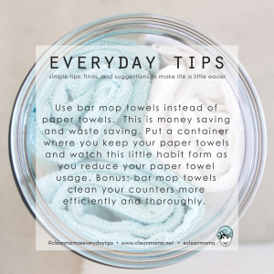 Everyday Tips : Reduce Paper Towels
