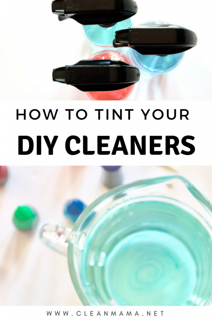 How to Tint Your DIY Cleaners