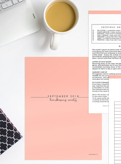 Your Secret to Getting More Done – September Homekeeping Society
