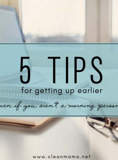 5 Tips for Getting Up Earlier