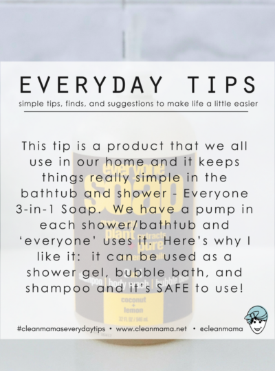 Everyday Tips : Everyone 3-in-1 Soap