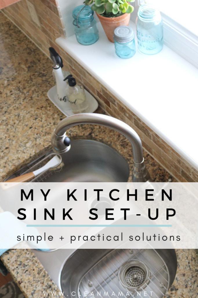My Kitchen Sink Set-Up - Clean Mama