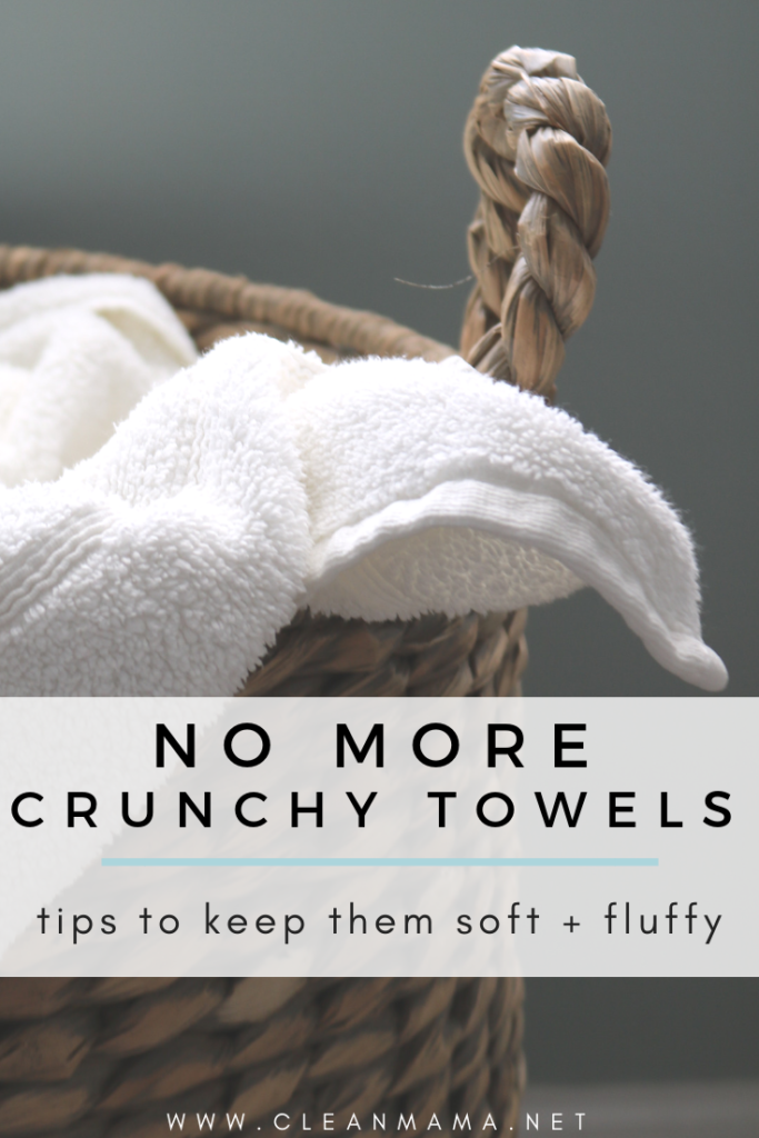 no more crunchy towels how to restore your towels to their fluffy goodness clean mama. Black Bedroom Furniture Sets. Home Design Ideas