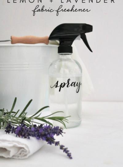 DIY Lemon + Lavender Fabric Freshener Spray