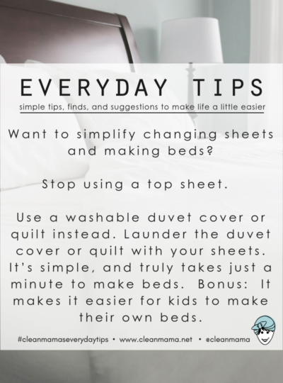 Everyday Tips : Stop Using a Top Sheet