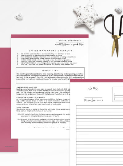 Your Secret to Getting More Done – December 2018 Homekeeping Society + FREE Simple Holiday Planner