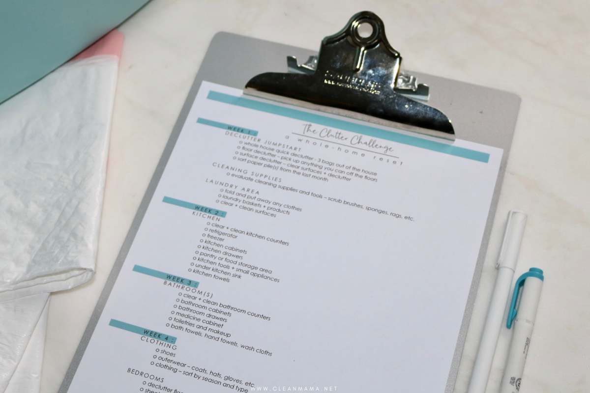 The Clutter Challenge – A Whole-Home Reset – Clean Mama