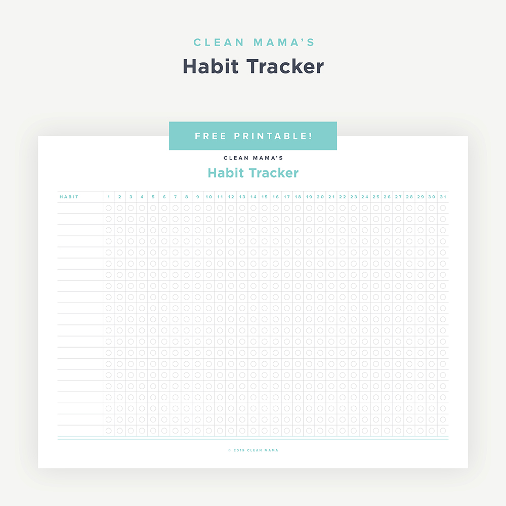 image regarding Habit Tracker Free Printable known as No cost Printable : Routine Tracker Fresh new Mama