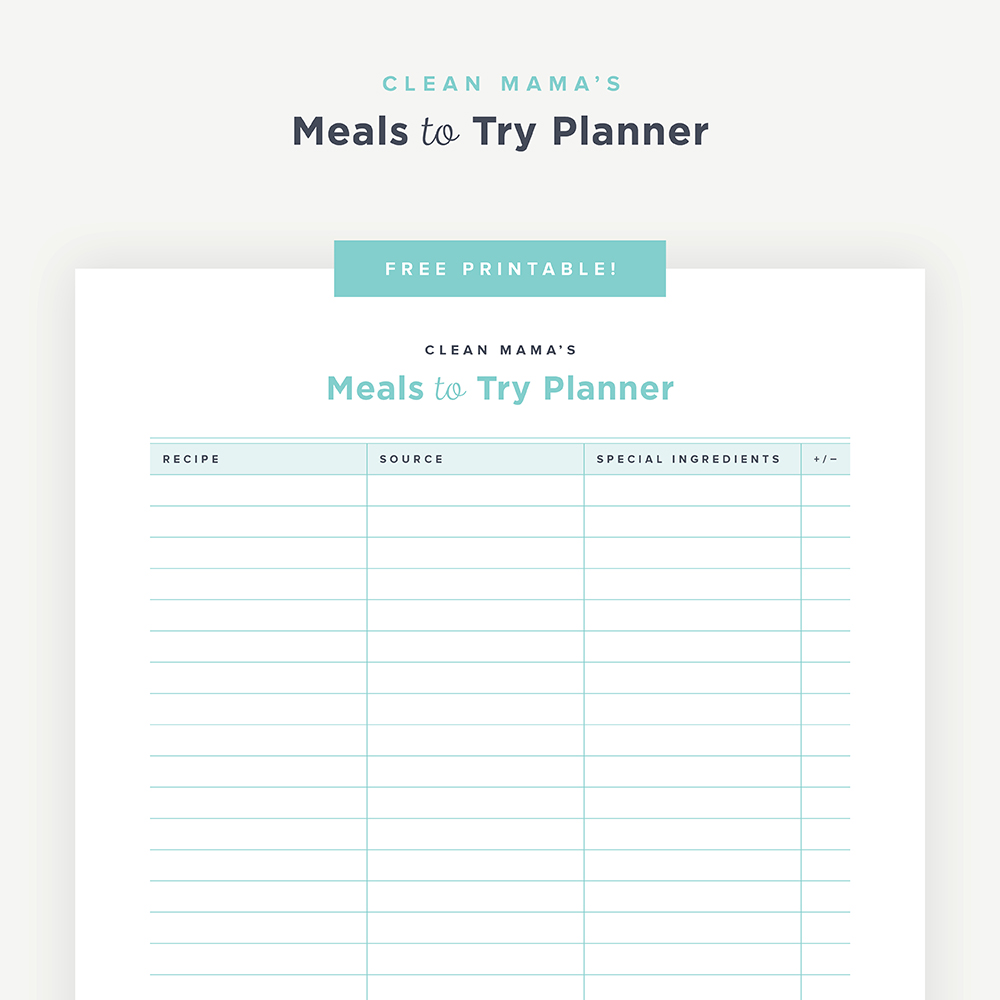 image about Printable Menu Planner identify Totally free Printable : Food items towards Consider Planner Refreshing Mama