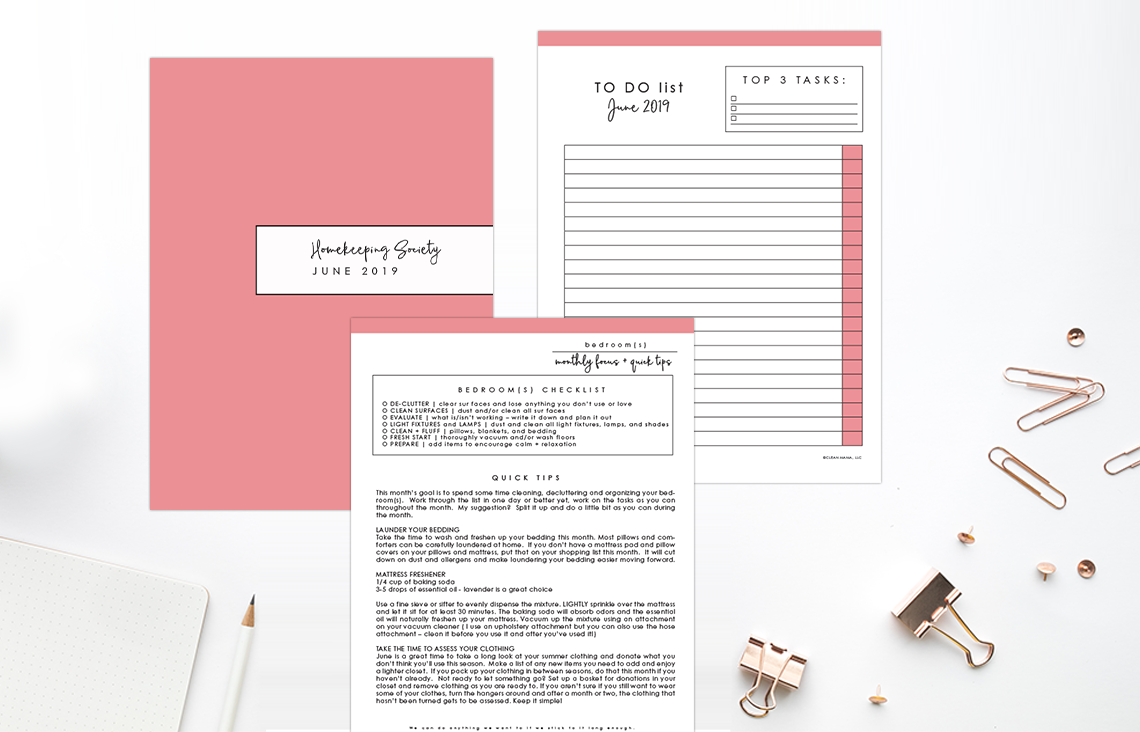 Your Secret to Getting Things Done – June 2019 Homekeeping