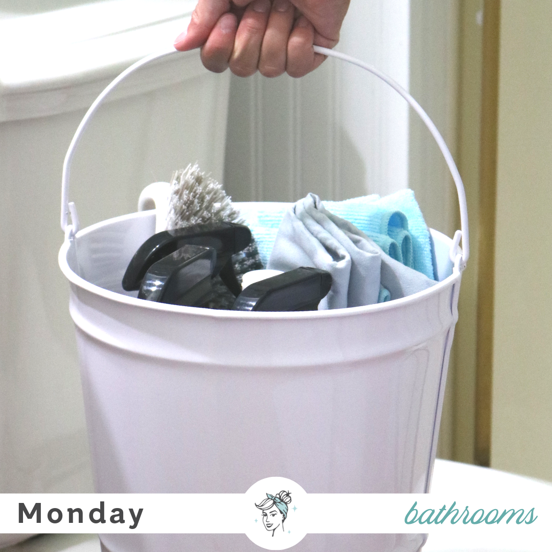 Cleaning class monday is bathrooms day clean mama - What do i need to clean my bathroom ...