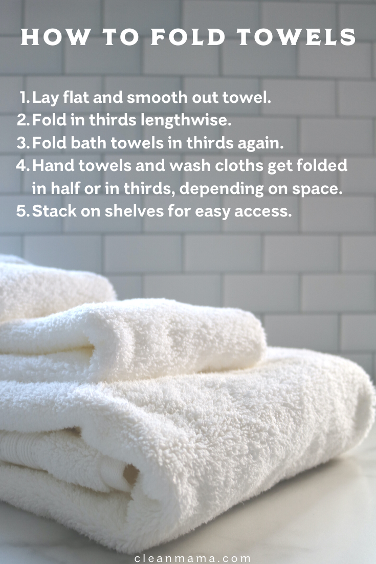 How To Fold Towels Clean Mama